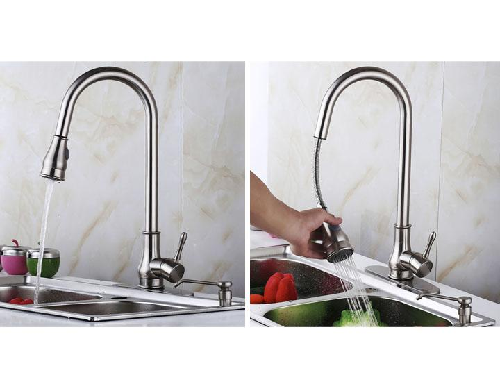 Chrome Kitchen Sink Faucet With Pull Out Sprayer Untilgone Com