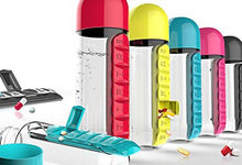 20-Ounce Water Bottle with Built-In Daily Pill Box Organizer Water Bottles
