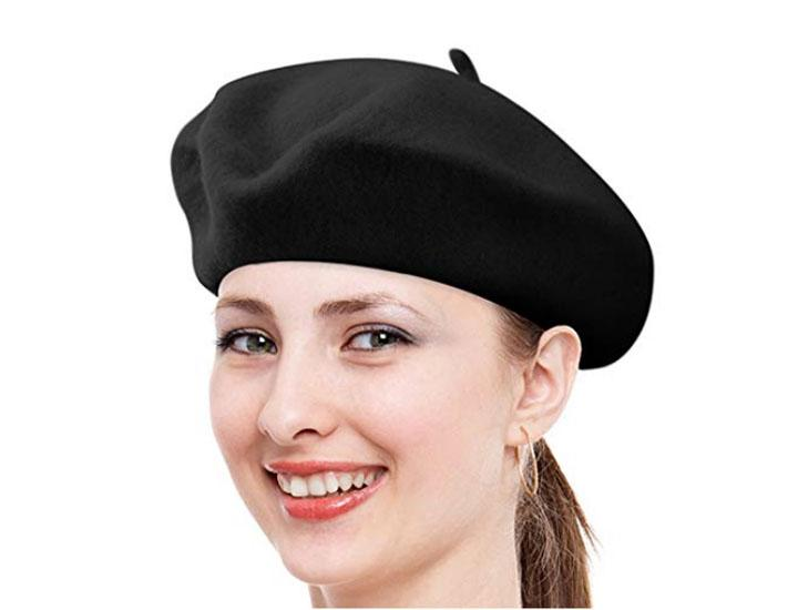 Nollia Solid Color French Wool Beret