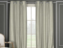 Heavy Faux Silk Blackout Thermal Curtains [2 or 4 Panels]