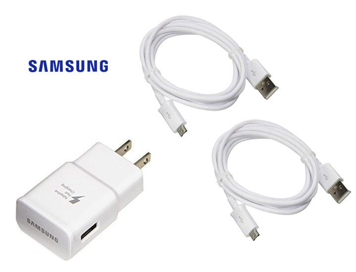 [2-Pack] Genuine Samsung USB-C Cables + Rapid Wall Charger Power Adapters & Chargers