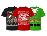 Men's Funny Ugly Christmas Sweater Cotton T-Shirts