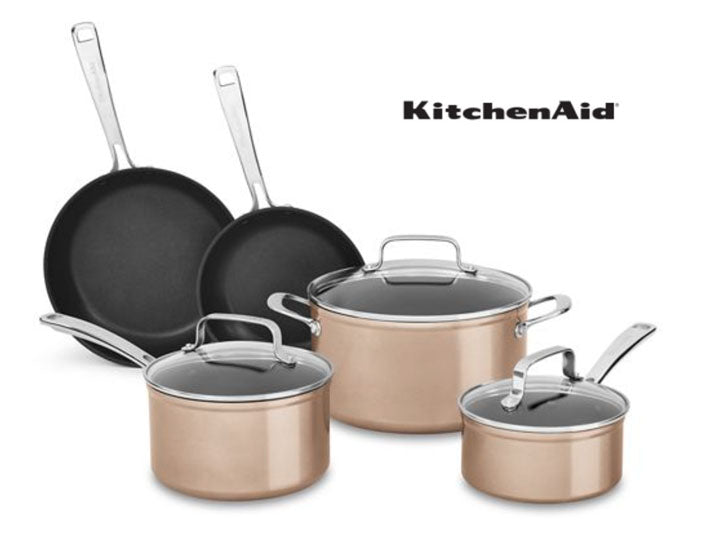 KitchenAid 8-Piece Hard Anodized Non-Stick Cookware Set