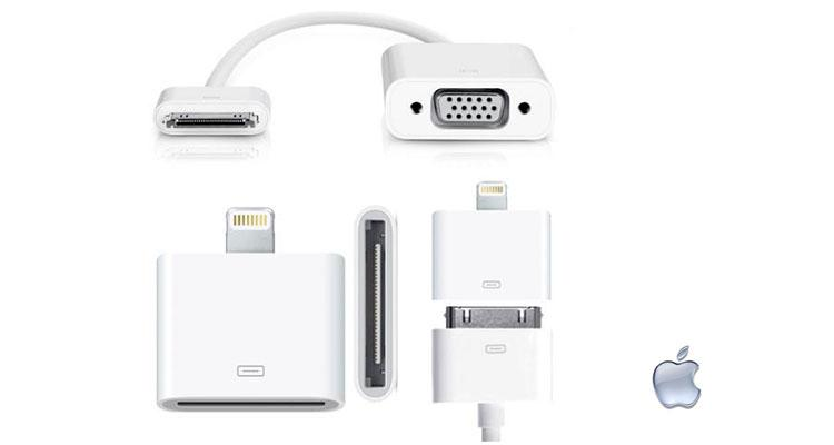 Apple VGA Video Adapter + Lighting to 30-Pin Adapter  - UntilGone.com