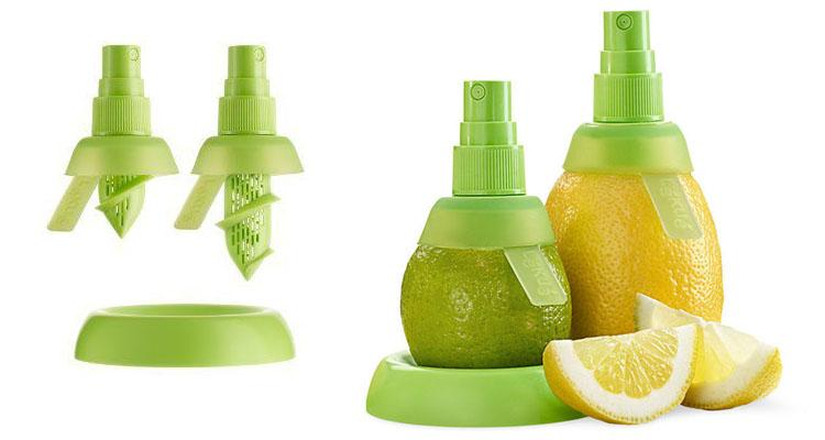 Innovative Dining Citrus Sprayers – Lemon and Lime Screw-On Pump Lemon & Lime Juice