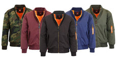 Men's Heavyweight Flight Jacket with Arm Pocket - 5 Colors