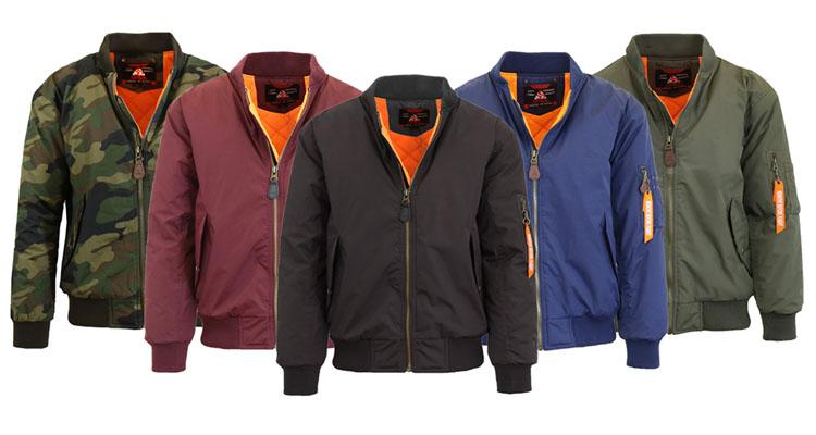 Men's Heavyweight Flight Jacket with Arm Pocket - 5 Colors Coats & Jackets