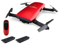 Foldable Drone with Live Video Camera, G-Sensor Remote and 2 Batteries