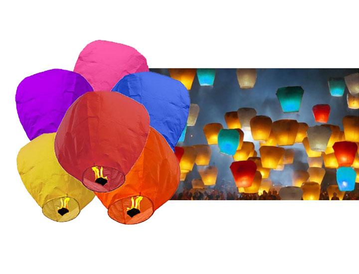 100% Biodegradable Chinese Paper Sky Lanterns