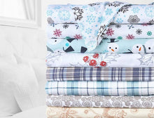 Bibb Home Holiday & Winter Printed 100% Cotton Flannel Sheet Set  - UntilGone.com