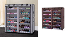6-Tier Shoe Rack with Non-Woven Fabric Cover