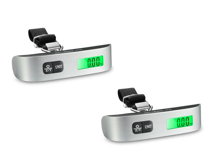 [2-Pack] Digital Luggage Scale for Travel – Weighs up to 110lb/50kg Measuring Scales