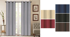 "Denver Embossed Blackout Curtain Panels – Set of Two (38"" x 84"")"