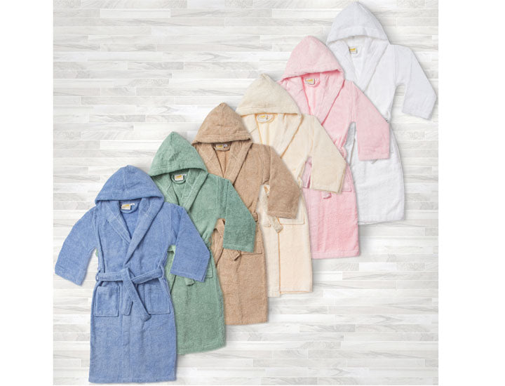 Egyptian Cotton Soft Terry Kids' Hooded Bathrobe