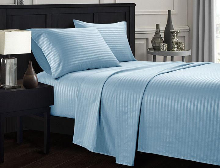 Brushed Microfiber Dobby Striped 4-Piece Sheet Set
