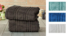 [2 or 4-Pack] 100% MicroCotton Zero-Twist Plush Oversized Bath Towels