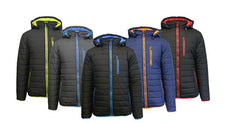 Men's Heavyweight Water Resistant Puffer Jacket with Detachable Hood