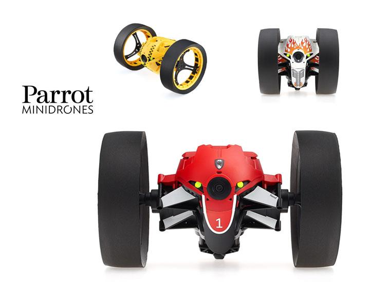 Parrot Jumping Race Mini Drone with On-Board Live Video Camera Remote Control Toys Red
