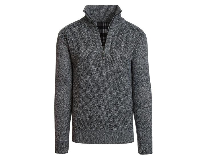Alta Men's Casual Fleece Lined Half-Zip Sweater Jacket Coats & Jackets