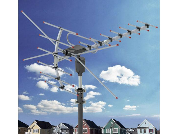 Leadzm Long-Range Outdoor TV Antenna with 360° Rotation