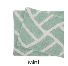 [2 Piece] Water Absorbent Bath Mat 100% Cotton Plush - 6 Colors Mint - UntilGone.com