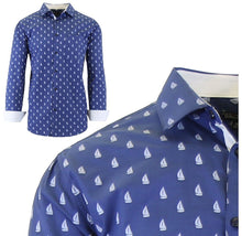 Daily Deals Men's Long Sleeve Printed Dress Shirts With Chest Pocket Shirts & Tops