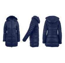 Women's Silhouette Style Puffer Jacket - 5 Colors Navy - X-Small - UntilGone.com