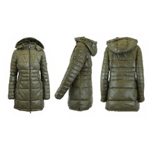 Women's Silhouette Style Puffer Jacket - 5 Colors Olive - X-Small - UntilGone.com