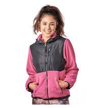 Alta Women's Two-Tone Full-Zip Fleece Jacket – Multiple Colors Coats & Jackets Pink/Black - XL