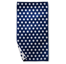 Superior Collection Oversized Beach Towel 100% Cotton Beach Towels Polka Dots - Blue