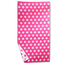 Superior Collection Oversized Beach Towel 100% Cotton Beach Towels Polka Dots - Pink