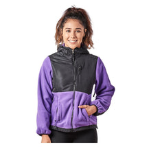 Alta Women's Two-Tone Full-Zip Fleece Jacket – Multiple Colors Coats & Jackets Purple/Black - XXL
