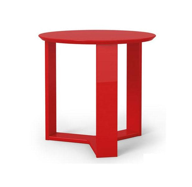 Manhattan Comfort Madison Round Accent End Table End Tables Red