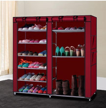 Shoe Storage Cabinet with 12 Adjustable Shelves - Holds 36 Pairs