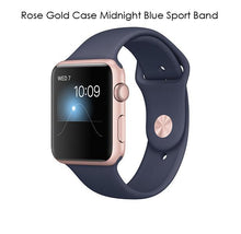 Apple Watch Gen 2 Series 1 Smartwatch – Choose 38mm or 42mm Styles 42mm Rose Gold Case Midnight Blue Sport Band - UntilGone.com