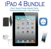 Apple iPad 4 Retina + Optional Bundle with Case, Charger, & Screen Protector  - UntilGone.com