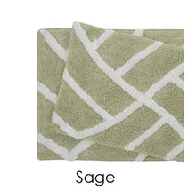 [2 Piece] Water Absorbent Bath Mat 100% Cotton Plush - 6 Colors Sage - UntilGone.com