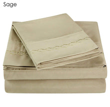 [4-Piece Set] Executive Series Ultra-Soft Brushed Microfiber Sheets with Embroidery Bed Sheets 19