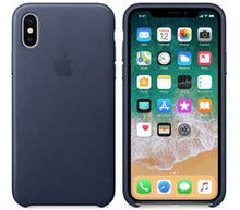 Genuine Apple iPhone X Leather Case - Midnight Blue