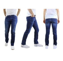 Men's Straight Leg Jeans with Stretch Fit Pants Sea Dark Blue - 30X30