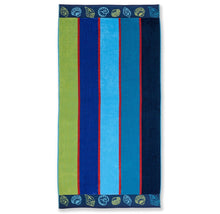 Superior Collection Oversized Beach Towel 100% Cotton Beach Towels Sea Shells - Blue