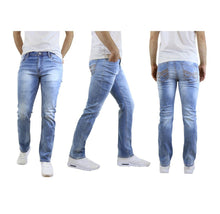 Men's Straight Leg Jeans with Stretch Fit Pants Sky Light Wash - 30X30