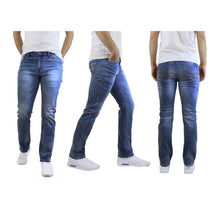 Men's Straight Leg Jeans with Stretch Fit Pants Sky Medium Wash - 30X30