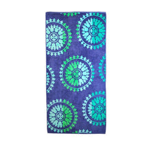 Superior Collection Oversized Beach Towel 100% Cotton Beach Towels Spinning Wheels - Blue