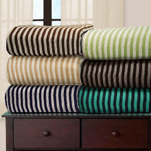 Impressions All-Season Luxurious 100-Percent Cotton Striped Blankets Blankets