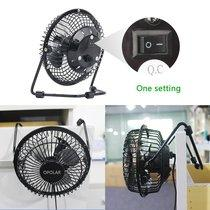 Mini USB Personal Fan with Metal Design & Quiet Operation  - UntilGone.com