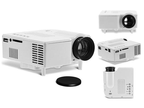 Aduro Multimedia Projector with HDMI, USB Slot and Built-In Speaker Projectors