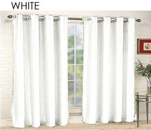 "Mira Solid Faux Silk 84"" Grommet Top Curtains [2-Panels] Curtains & Drapes"