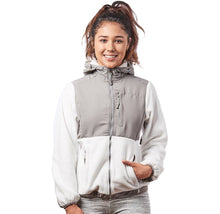 Alta Women's Two-Tone Full-Zip Fleece Jacket – Multiple Colors Coats & Jackets White/Light Grey - Medium