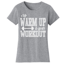 Women's Gym Workout Humor Funny T-Shirts Shirts & Tops Warm Up - Grey/White Print / S